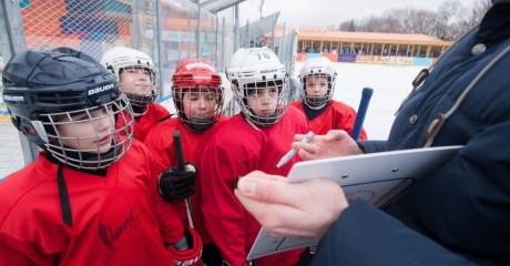 Школа хоккея в парке Горького