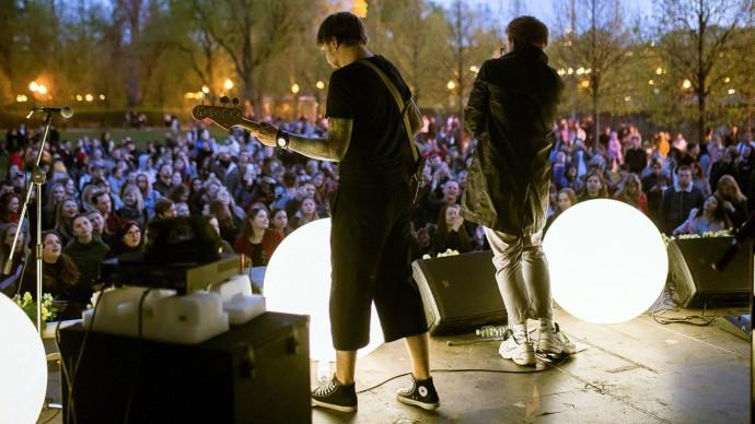 Летняя музыкальная сцена открывается в Парке Горького