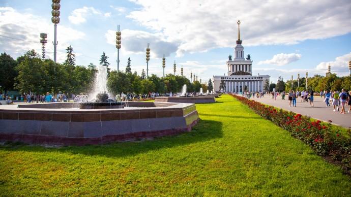 Светотехническое шоу в павильоне «Макет Москвы» в День Победы