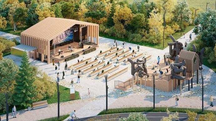 На двух участках будущего парка «Яуза» начались инженерные работы