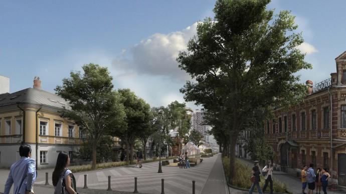 Школьная улица станет благоустроенным пешеходным пространством