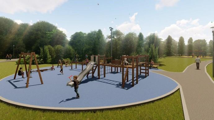 Современные детские площадки появятся в парке Дружбы