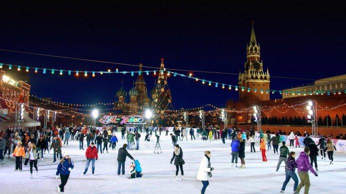 Каток на Красной площади оформят в стиле Шагала и Кандинского