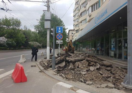 На проспекте Ленина начали благоустройство пешеходной зоны