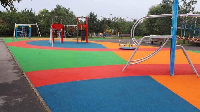 В парке «Ангарские пруды» открылась новая детская площадка