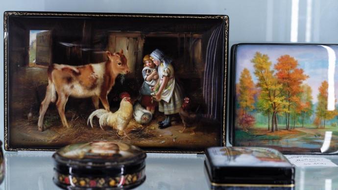 На фестивале «Русское поле» покажут самое большое панно в истории федоскинской лаковой миниатюрной живописи