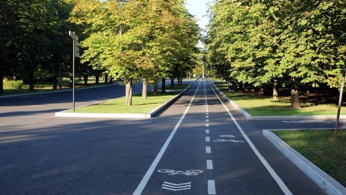 В парке Победы проложили новые велодорожки