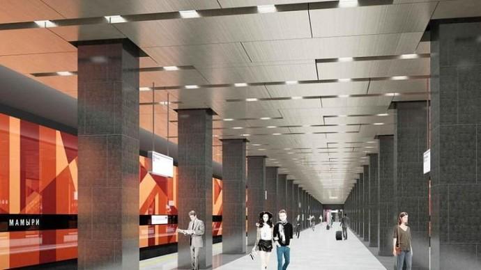 Станцию «Мамыри» оформят в бордовом и оранжевом цветах