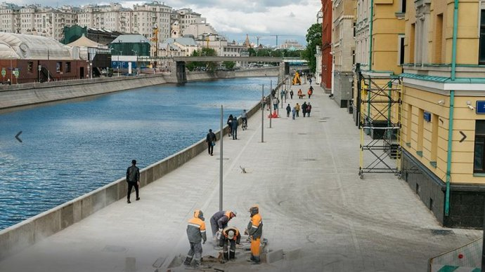 Прогулочную зону между «Музеоном» и Патриаршим мостом открыли после реконструкции
