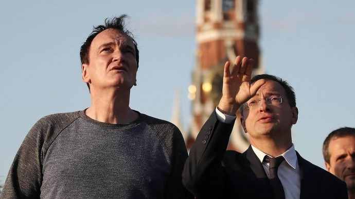 В центре Москвы заметили прогуливающегося Квентина Тарантино