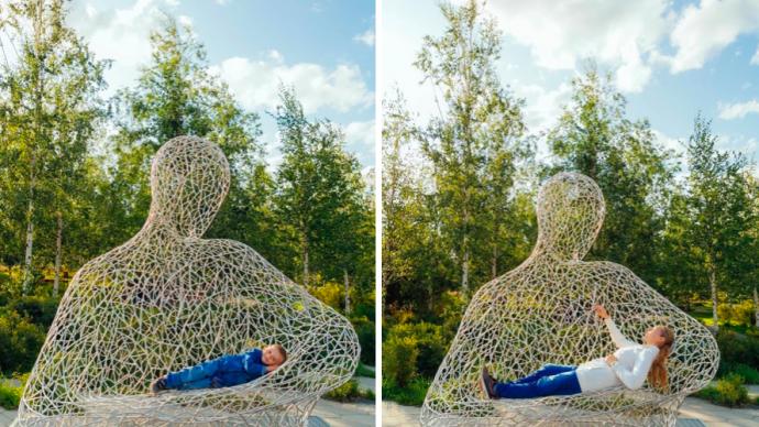 В парке «Зарядье» появился новый арт-объект