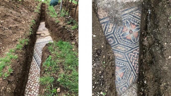 Рядом с Вероной нашли остатки мозаичного пола виллы III века н.э.