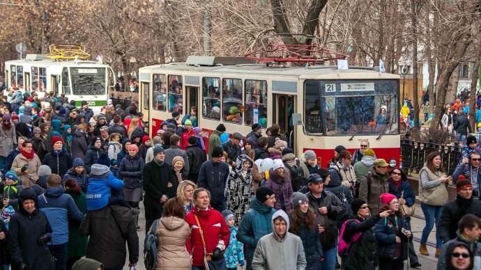 Самарские трамваи год будут ходить по другому маршруту