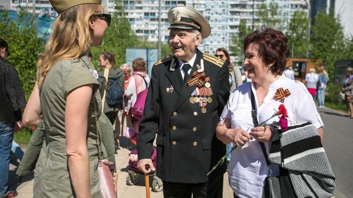 Ежегодная встреча ветеранов в Парке Победы