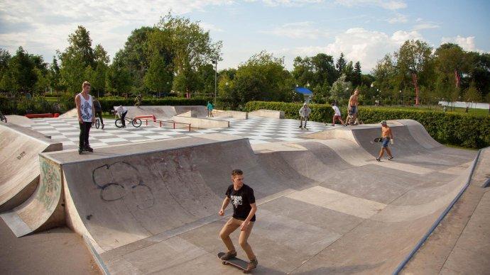 В Парке Горького открывается бесплатная скейт-школа