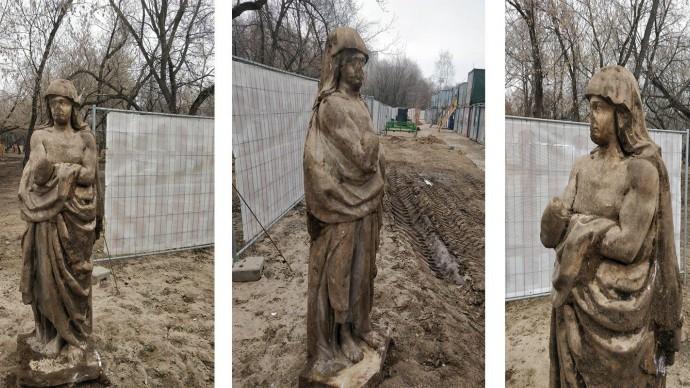 Скульптуру XVIII века нашли в усадьбе «Люблино»