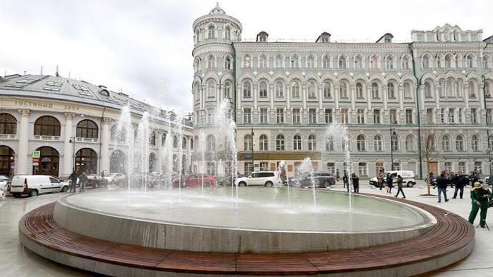 В Москве запустили 5 новых фонтанов