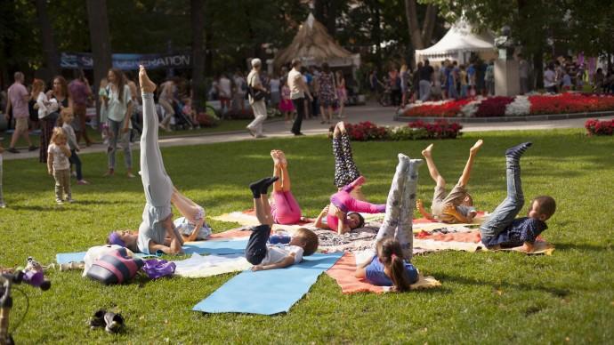 Международный день йоги в парке «Зарядье»