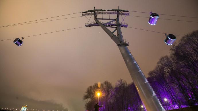 Московская канатная дорога переходит на зимний режим работы