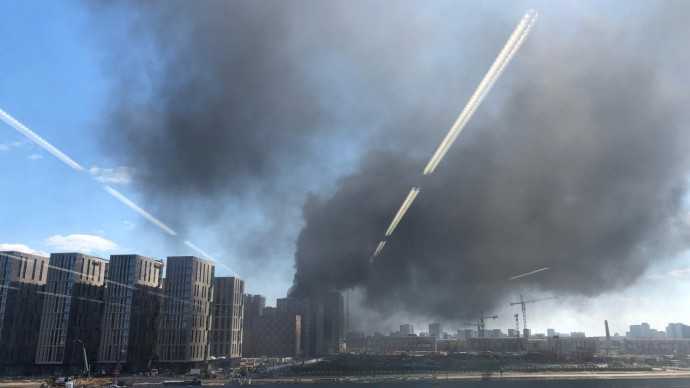 В квартале «ЗИЛ»-арт произошел пожар