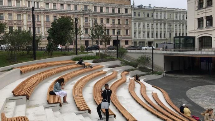 Амфитеатр у Политехнического музея на Лубянке открылся для москвичей