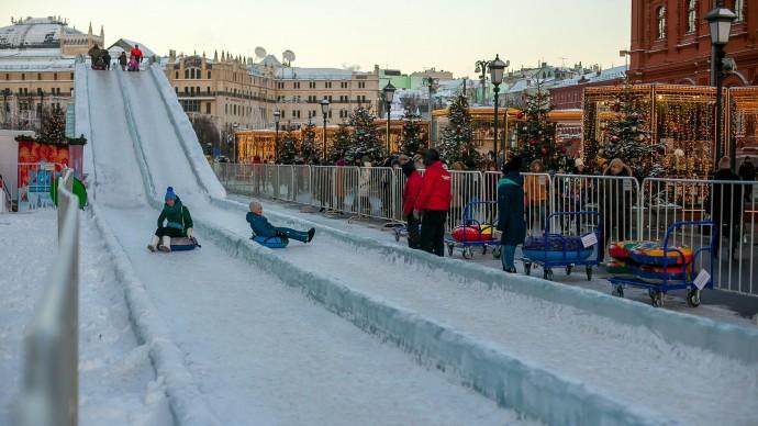 На Моховой появился сноуборд-парк