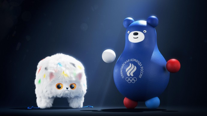 Новые талисманы сборной России: кот-ушанка и медведь-неваляшка
