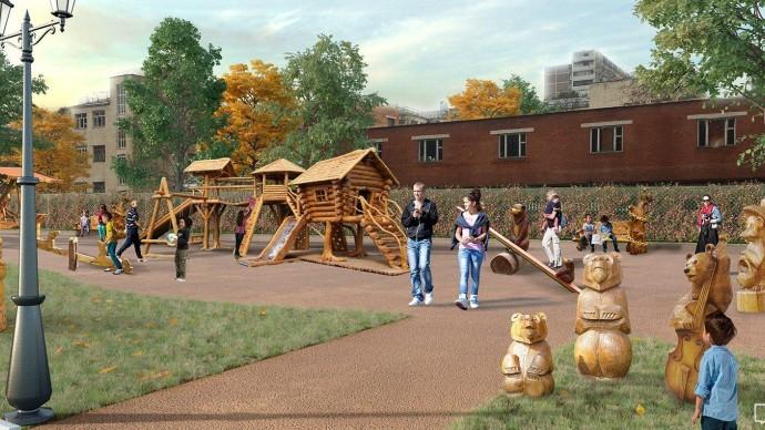 Дом Бабы-яги появится в обновленном Детском Черкизовском парке