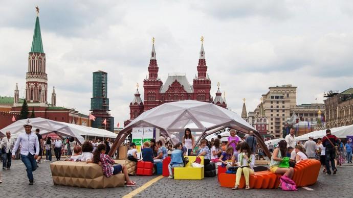 На Красной площади открылся ежегодный книжный фестиваль