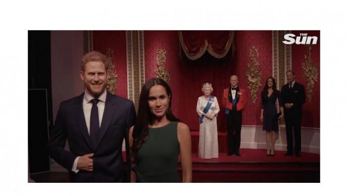 Музей мадам Тюссо убрал фигуры принца Гарри и Меган Маркл из состава королевской семьи