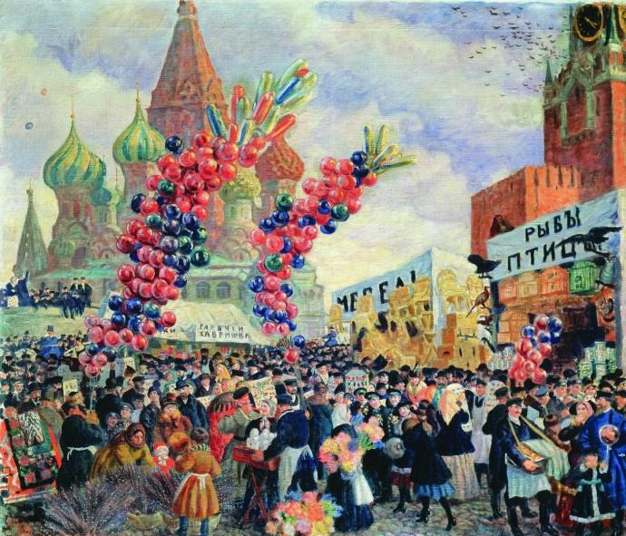 Лубок, Масленица и «Бубновый валет»: Москва на картинах легендарных художников