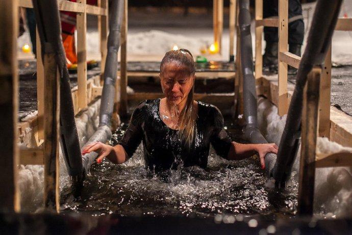 Фото: Крещенские купания. Как это было?
