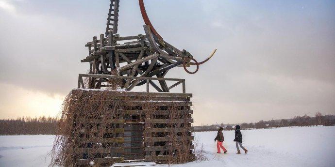 Как выглядит арт-парк «Никола-Ленивец» зимой?