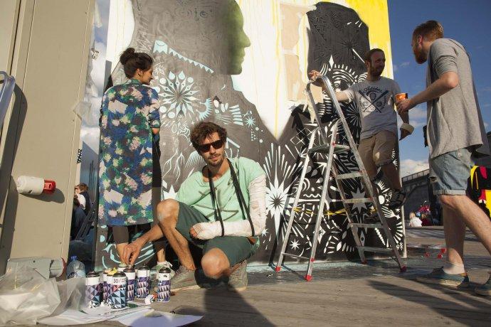 Фото: Граффити-джэм в «Музеоне»