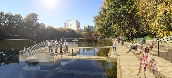 Как будут выглядеть обновленные Красногвардейские пруды на Красной Пресне