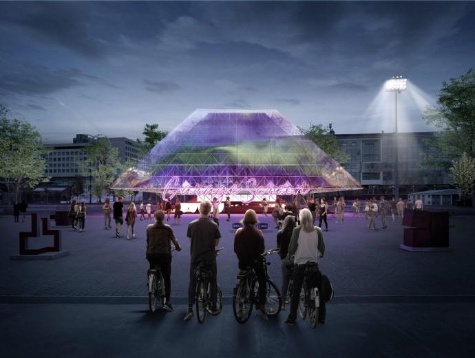 Каким будет новый летний кинотеатр в парке Горького?