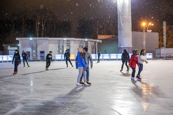 Новое: Первый день работы катка «Лёд» в «Сокольниках»